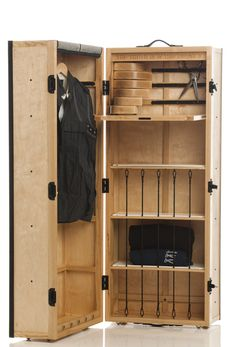 This portmanteau steamer trunk one-off from Method Furniture in the UK is amazing. I wish I could have one!