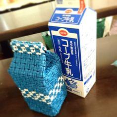 牛乳パック型、小物入れ。