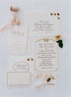 Ivory wedding invitation suite via Laurie Arons