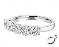 Carat Five Stone Diamond Eternity Ring Ireland Eternity Rings, Eternity Ring Diamond, Right Hand Rings, Round Cut Diamond, Classic Looks, Vows, Birth, Diamonds, Anniversary