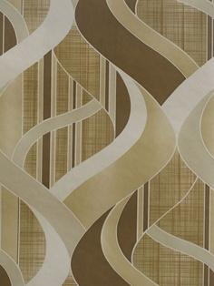 Vintage Wallpaper 60s 70s Panton Era Geometric Swirl