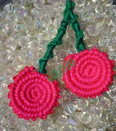 Macrame cherries.
