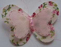 borboleta de tecido