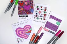 Last minute love: DIY Valentines/ Galentines cards - graphique fantastique Finding A New Hobby, Diy Valentines Cards, I Love Heart, Last Minute, New Hobbies, Sharpie, Party Favors, Greeting Cards, Messages