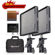 2pcs Aputure Amaran AL 528W High CRI 95 PWM LED Video Studio TV Light KIT BAG | eBay $346