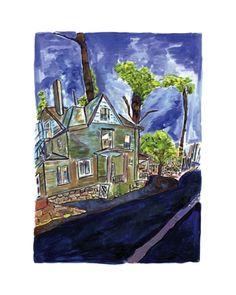 www.canvasgallery.com Bob Dylan House On Union Street 2012