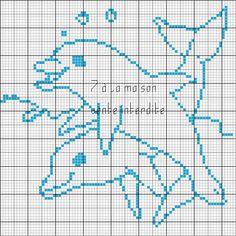 Σχέδια με δελφίνια για κέντημα / Dolphin cross stitch patterns