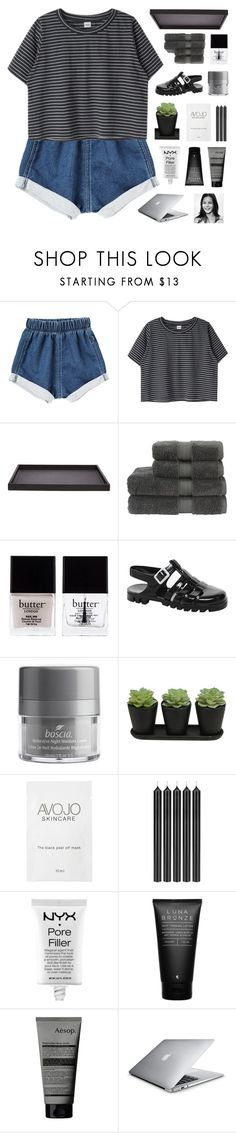 """""""wish we could turn back time to the good ol' days"""" by sh-atteredheart ❤ liked on Polyvore featuring GioBagnara, Christy, Butter London, JuJu, Boscia, Tom Dixon, NYX, Luna Bronze and Aesop"""