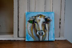 A cow named 'Sky' by JJHowardFineArt on Etsy