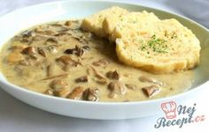 Houbová smetanová omáčka na kyselo Slovak Recipes, Czech Recipes, Hungarian Recipes, Ethnic Recipes, Vegetable Recipes, Vegetarian Recipes, Cooking Recipes, Mushroom Dish, Good Food