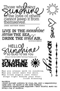 everyone can use a little sunshine - a must-have stamp set