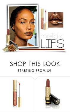 """Shine on: Metallic Lips"" by signaturenails-dstanley ❤ liked on Polyvore featuring beauty, Christian Dior, Gucci and metalliclips"
