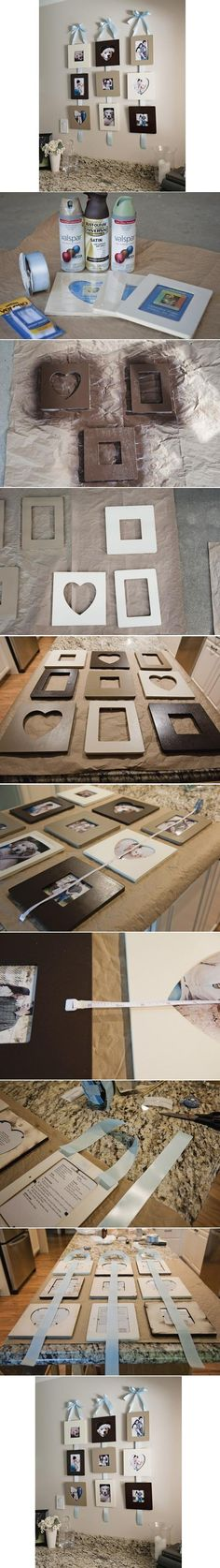 #DIY Stylish Wall Photo Frame #Crafts