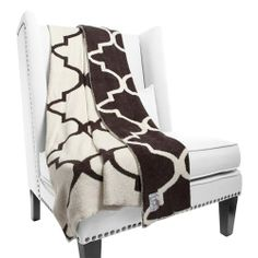 sultry luxury style modern   throw blanket | Giraffe at Home Dolce Moroccan Chocolate Throw Blanket