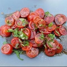 Tomato and basil salad recipe - All recipes UK Meal Planning Binder, Tomato Basil Salad, Vegetarian Recipes, Cooking Recipes, Smoked Pork, Easy Salads, Learn To Cook, Side Dish Recipes, Dinner Recipes