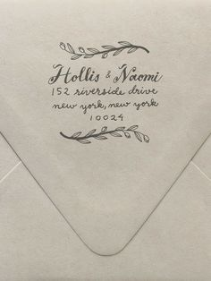 Bought one of these 'Branches' return address custom stamp from @Sycamore Street Press -- it's so lovely!  I'm hoping it will help me to be a better correspondent :)
