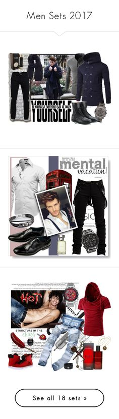 """""""Men Sets 2017"""" by sasane ❤ liked on Polyvore featuring La Fiorentina, Acne Studios, Movado, Park Designs, Davidoff, Edge Only, men's fashion, menswear, adidas and Ren-Wil"""