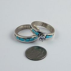 The 30 best Native American Wedding Rings images on Pinterest | Halo ...