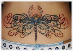 Lower Back Tribal Tattoos Design: Dragonfly Tribal Back Tattoos Ideas For Girl ~ Tattoo Design Inspiration