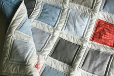 simple quilt I want to make with old denim jeans