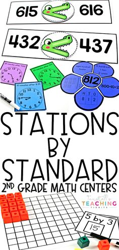 Math Stations by Standard Second Grade for the entire year! These math centers by math strand 2nd Grade Centers, Second Grade Math, First Grade Math, Math Centers, 2nd Grade Math Games, Learning Centers, Third Grade, 2nd Grade Classroom, Math Classroom