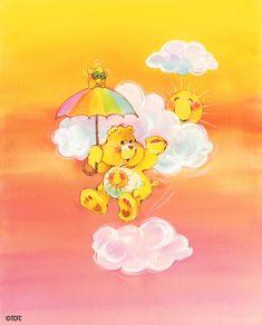 Care Bears: Funshine Bear Floating with Umbrella