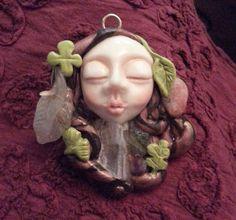 Nature Spirit Goddess or Forest Elf Pendant