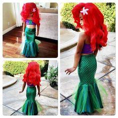 Costume baby girl princess ariel dress Cosplay The little Mermaid - Swimsuit - Girls Mermaid Tail, Mermaid Kids, The Little Mermaid, Mermaid Swimming, Ariel Costumes, Princess Costumes, Princess Dresses, Mermaid Tail Costume, Mermaid Costume Kids