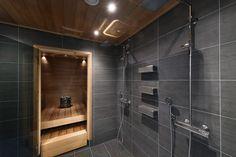 Bathroom Spa, Bathroom Interior, Sauna Shower, Sauna Design, Sauna Room, Spa Rooms, Luxury Spa, Shower Remodel, Industrial House
