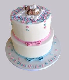 baptism girl boy twins cakes - Google Search