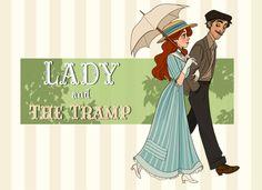 fuck yeah disney fanart: humanized!Lady & the Tramp