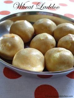 Wheat Laddoo  Check out the below link to see full recipe with stepwise pictures.. http://www.ranjaniskitchen.com/2014/05/10/wheat-laddoo-atta-laddoo-kodhumai-laddoo/