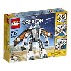 Step into the future with the awesome LEGO Creator Future Flyers robot. This robot is geared up for action and features a super-cool futuristic orange white and black color scheme large robo. Lego Creator Sets, The Creator, Sports Games For Kids, Rocket Power, All Lego, Lego Lego, Legos, Building Blocks Toys, Thing 1