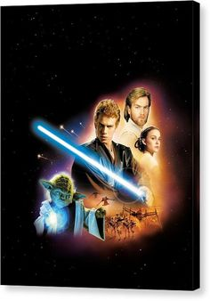 Star Wars Canvas Print - Star Wars Episode II - Attack Of The Clones 2002 by Fine Artist
