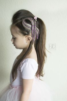 Pink ribbon braid hairstyle-a tribute to all who are battling breast cancer.