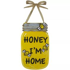 Dollar Tree Decor, Dollar Tree Crafts, Mason Jar Crafts, Mason Jar Diy, Diy Jars, Bee Crafts, Wood Crafts, Jar Art, Bee Theme