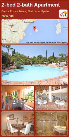 2-bed 2-bath Apartment in Santa Ponca Nova, Mallorca, Spain ►€385,000 #PropertyForSaleInSpain