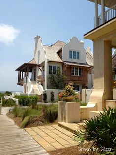 Amazing architecture in this home in Rosemary Beach.