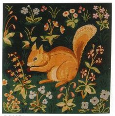 Squirrel Tapestry: