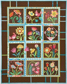 Becky Goldsmith & Linda Jenkins –– Brighten Your Day with Playful New Designs from Piece O' Cake • Use just one block or all twenty to make pretty garden quilts • Have fun with these light-hearted des