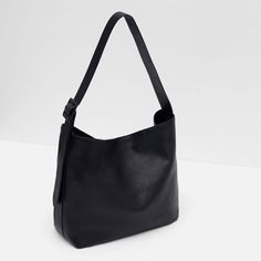 Image 6 of LEATHER BUCKET BAG WITH BUCKLE from Zara