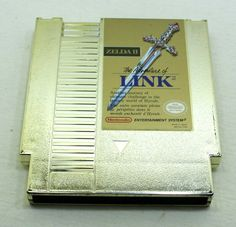 Zelda II 2 The Adventure of Link Gold Nintendo Nes Nes Cartridge, Entertainment System, Nintendo, Zelda, Entertaining, Adventure, Games, Store, Link