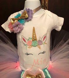 Unicorn tutu set unicorn birthday outfit first birthday