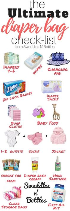Put together the ultimate diaper bag: