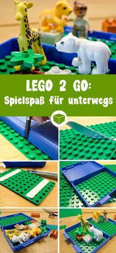 So einfach kannst Du für Deine Kleinen einen Spielspaß für unterwegs erstellen. Lego Duplo macht sich super in einer Lunchbox oder Brotdose und kann so überall hin mitgenommen werden.