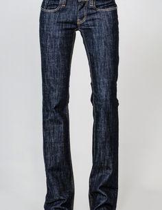 stylish blue boot cut