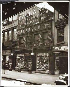 Callahan the Hatter at 140 Bowery (1932), Photo: MOCNY