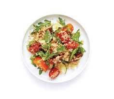 Tomato, Cucumber, and Quinoa Salad. Delicious, healthy & perfect for a light, summertime meal.