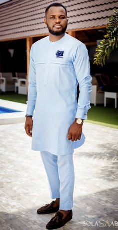 African Clothing For Men, African Shirts, African Men, Swag Outfits Men, Men's Outfits, Mens Fashion Suits, Men's Fashion, Fashion Dresses, Boys Wear