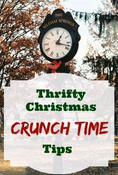 Thrifty Christmas Crunch Time Tips